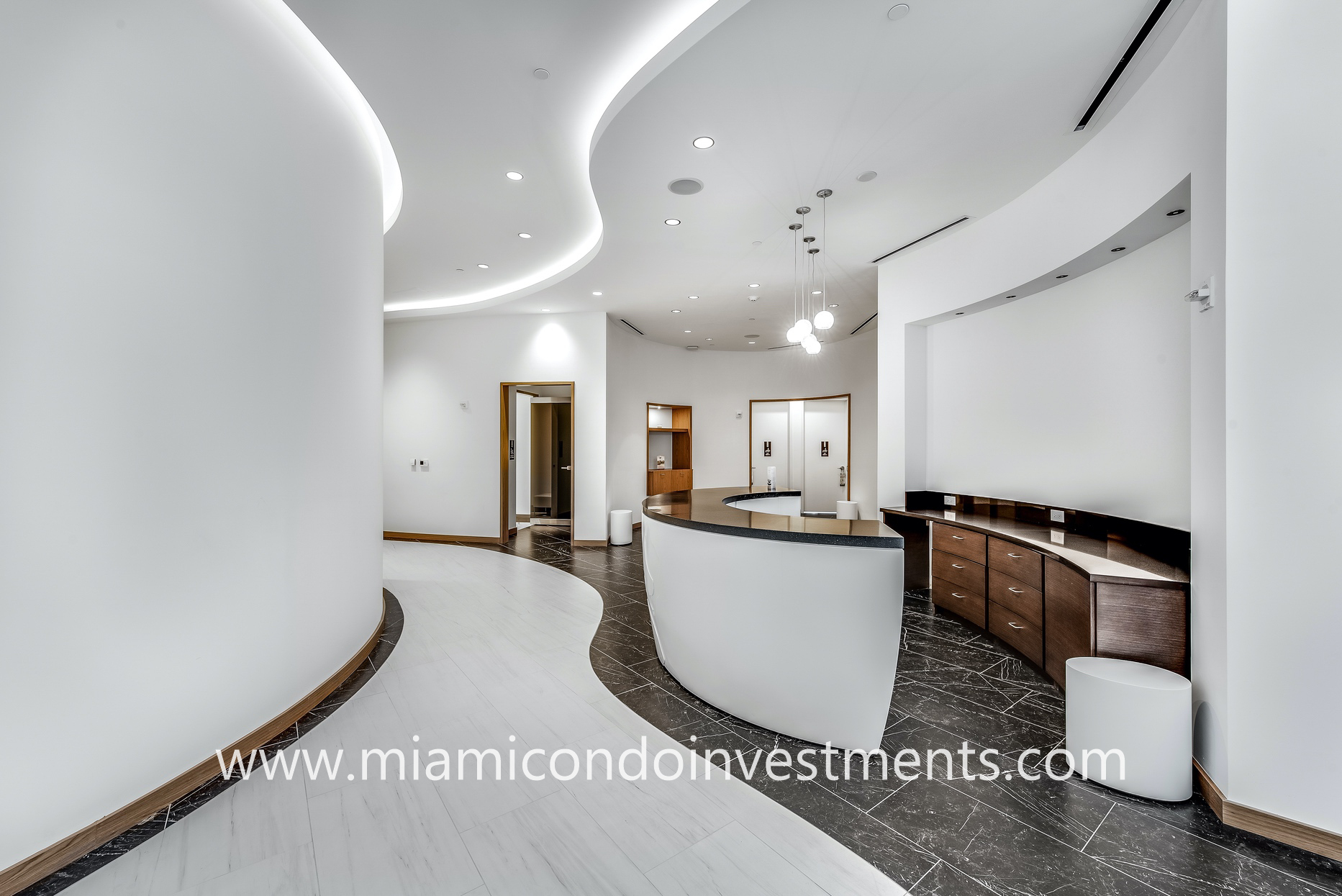 Paramount Miami spa reception desk