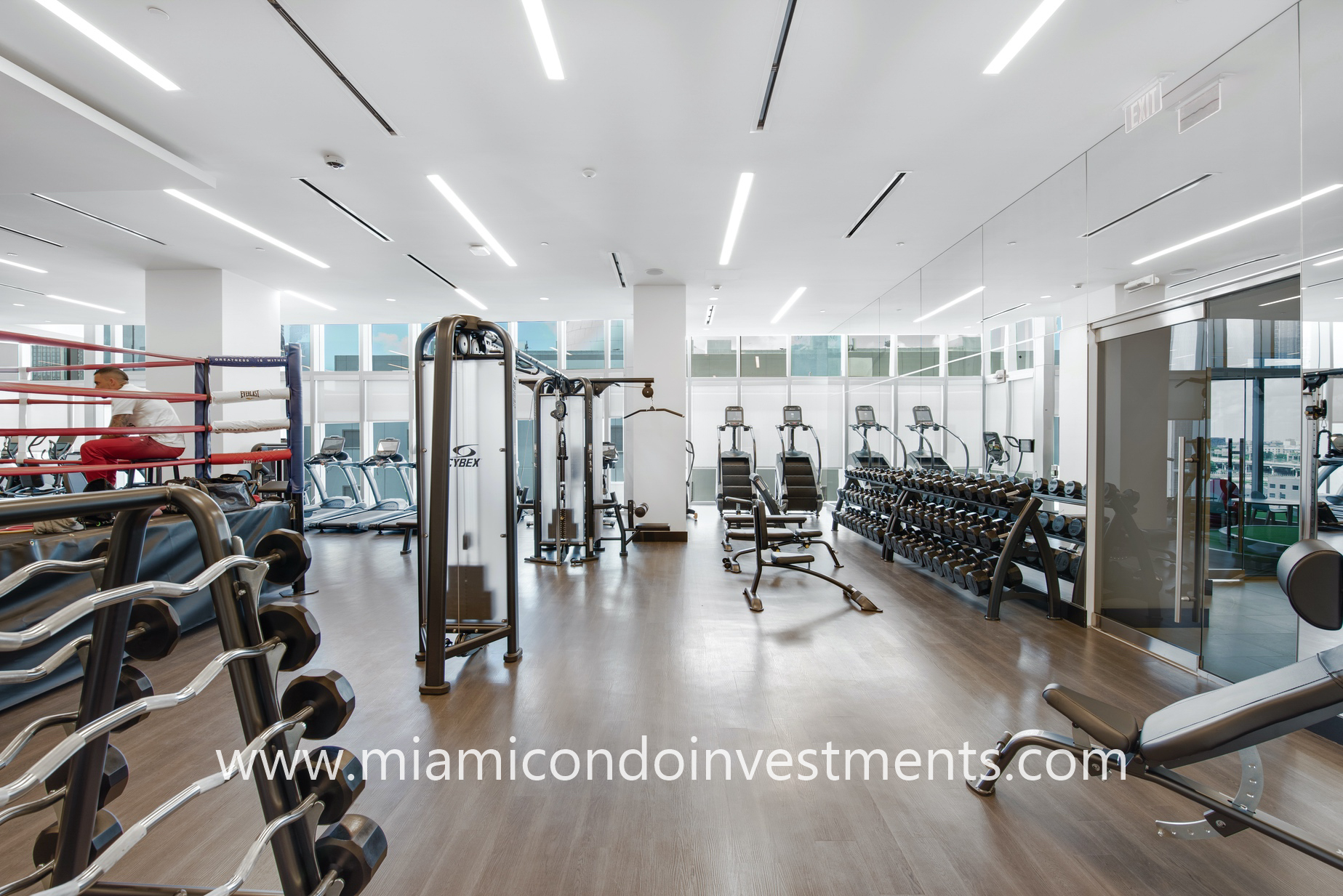 Paramount Miami fitness center and boxing ring