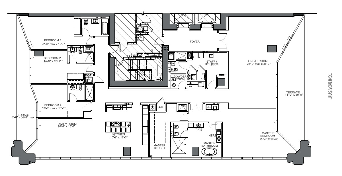 One Thousand Museum unit 4901 floor plan