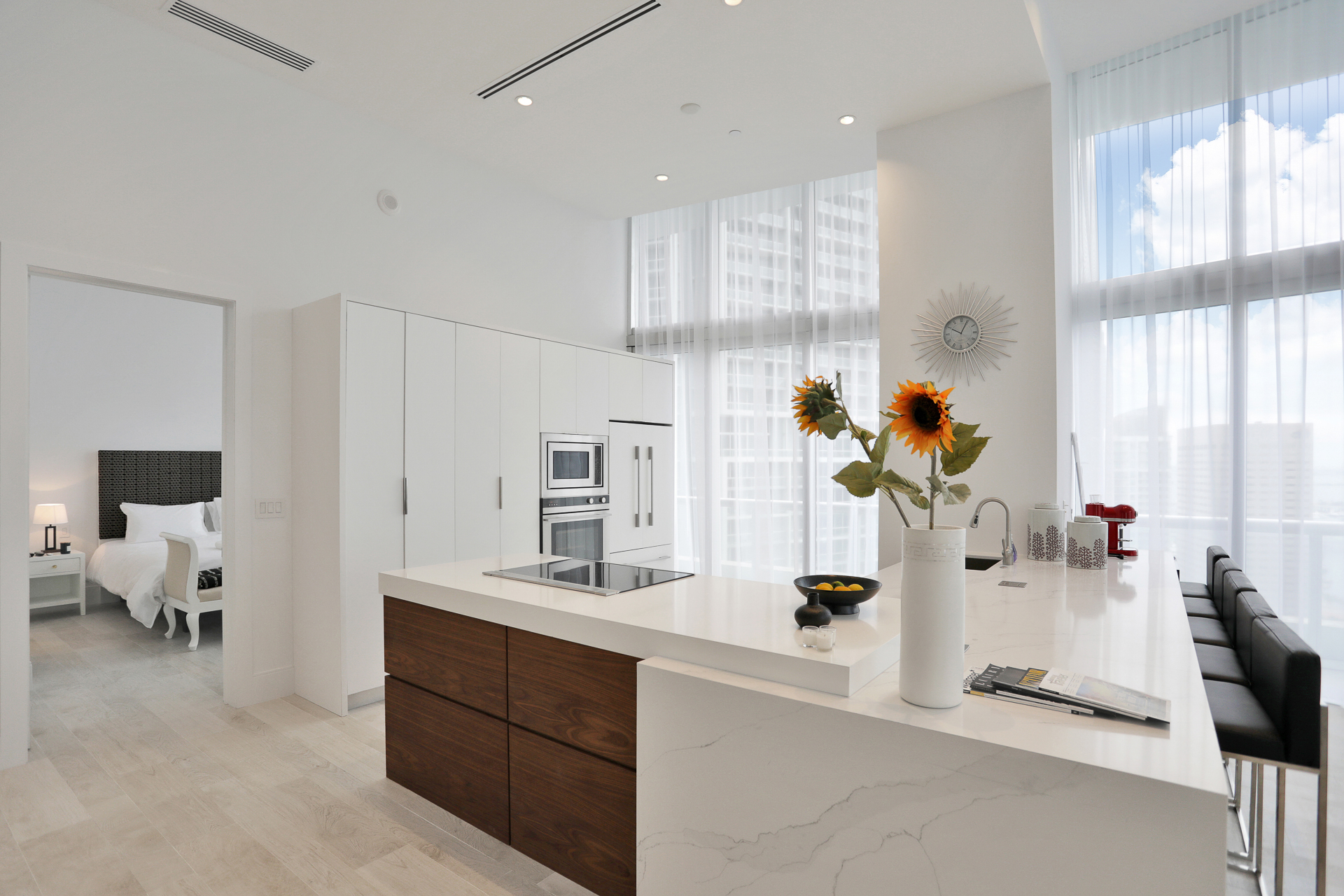 remodeled kitchen at Icon Brickell II