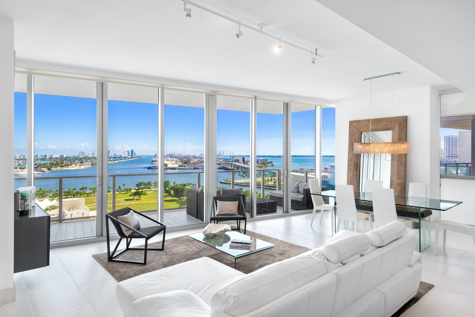 living room view from Marquis Residences unit 1902