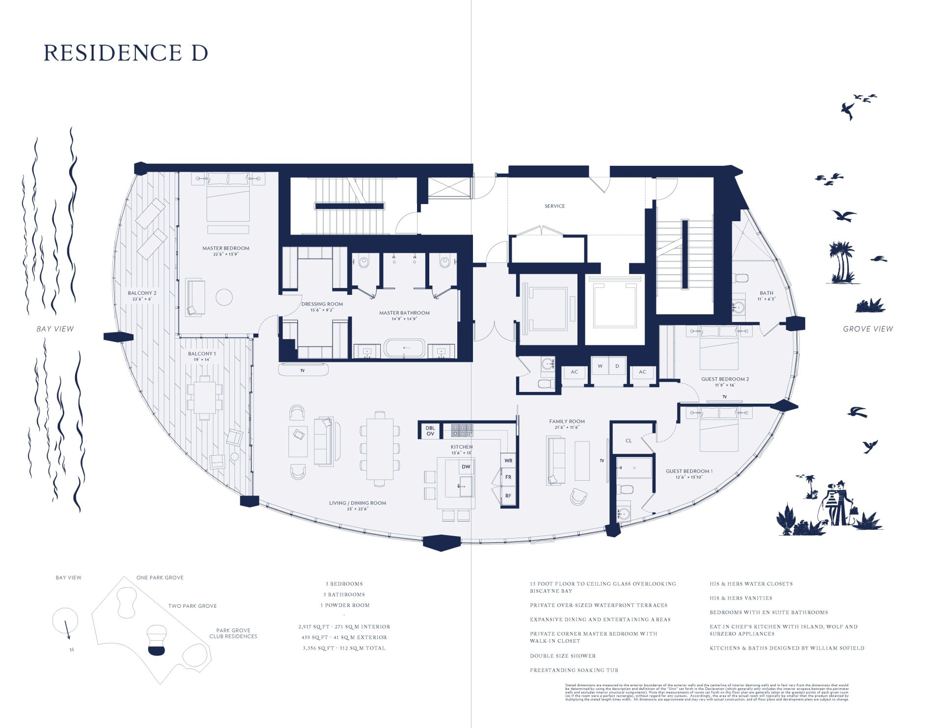Two Park Grove unit 4d floor plan