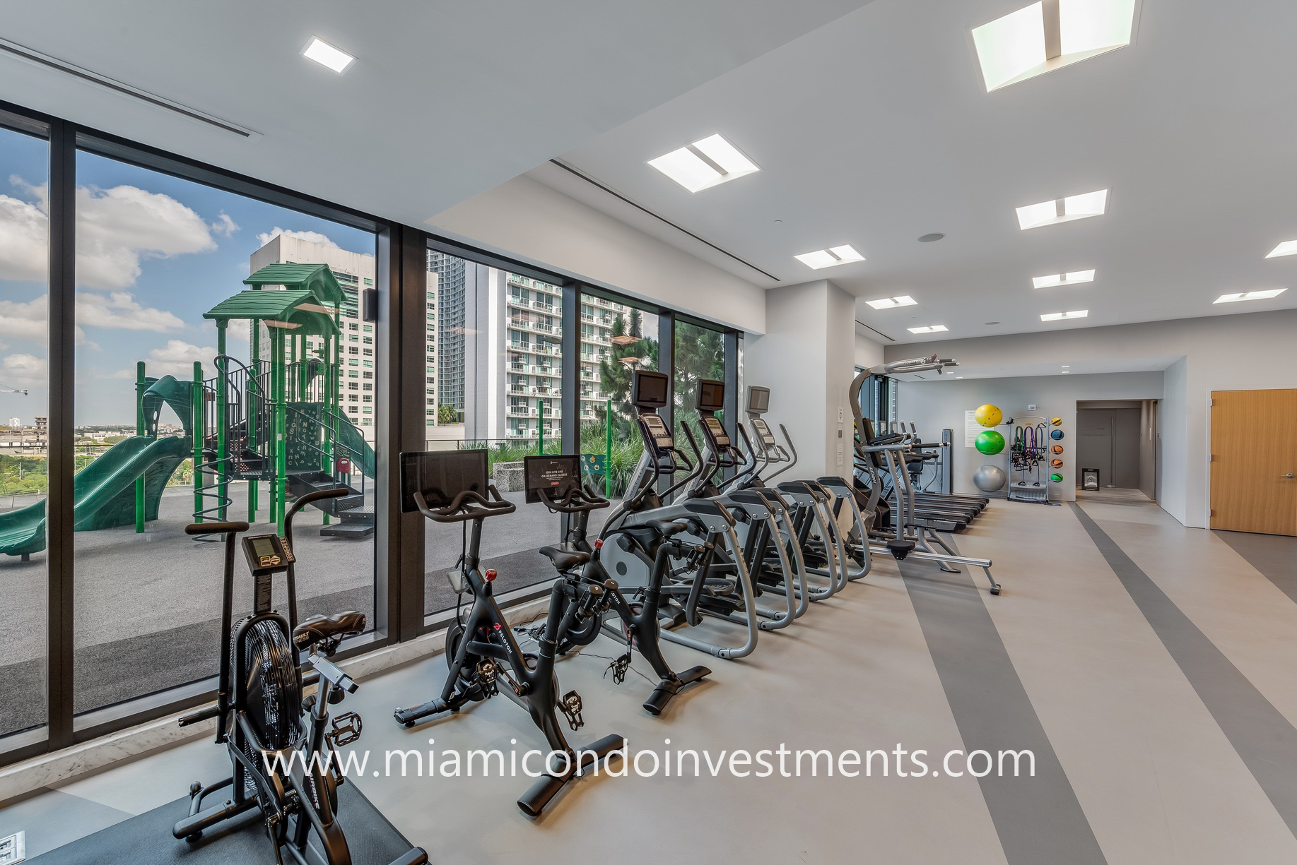 fitness center at Rise