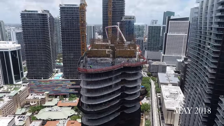 Brickell Flatiron construction update May 2018