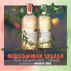 The Spirit of the Season: ABSOLUT Vodka Makes a Splash on Fort Lauderdale Beach to Usher in Midsommar