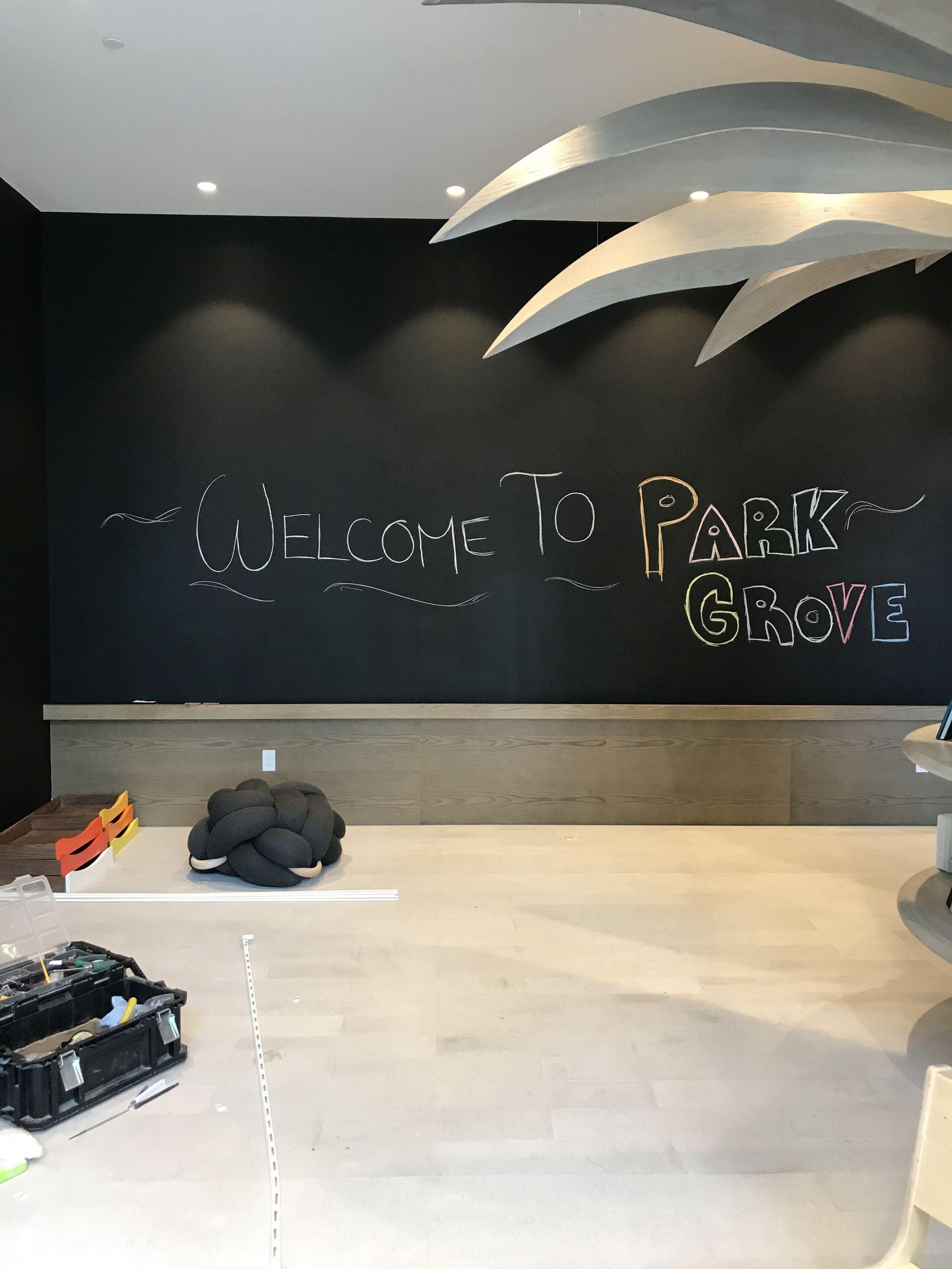 children's playroom at Park Grove