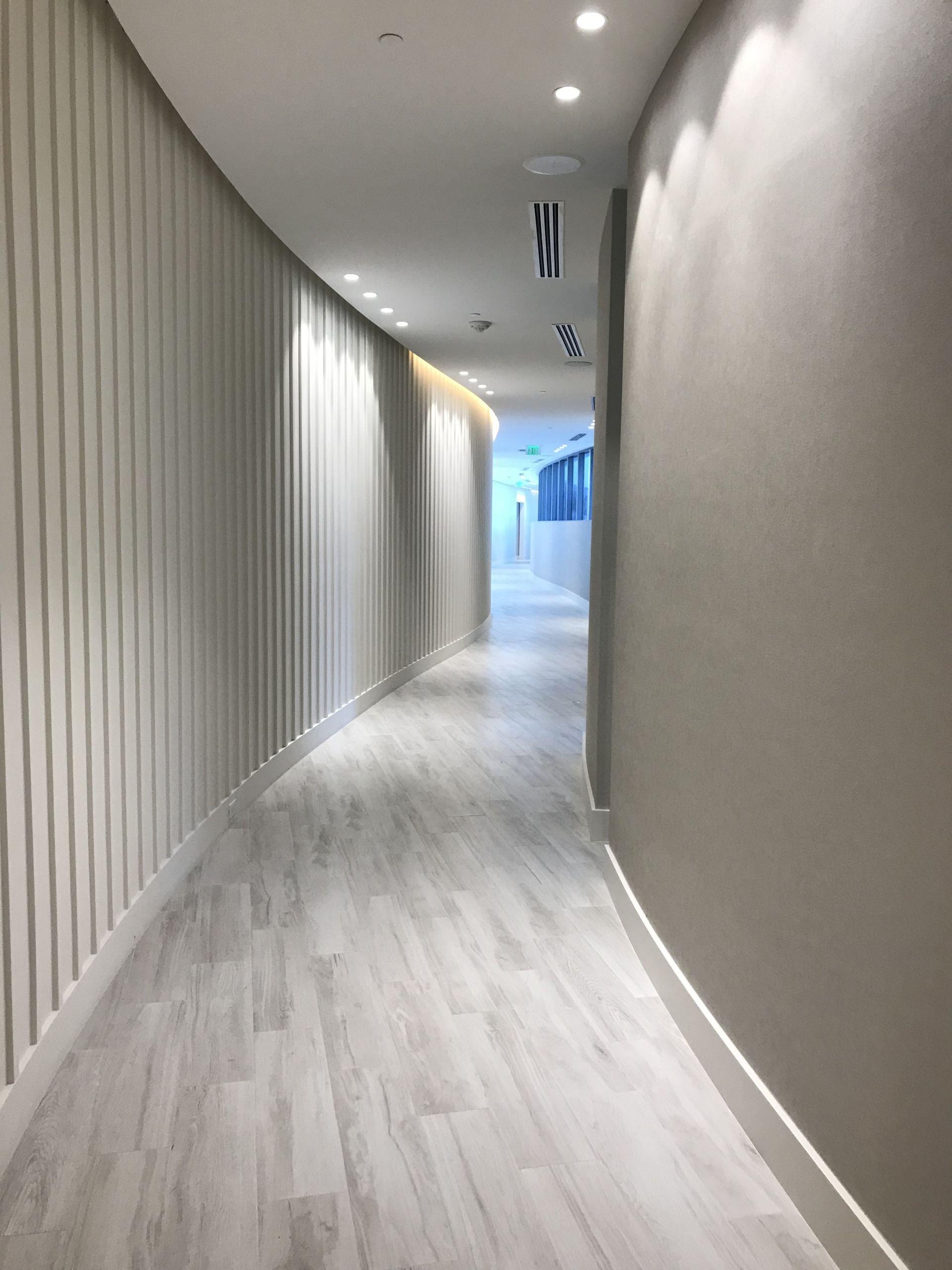 Park Grove hallway to amenities