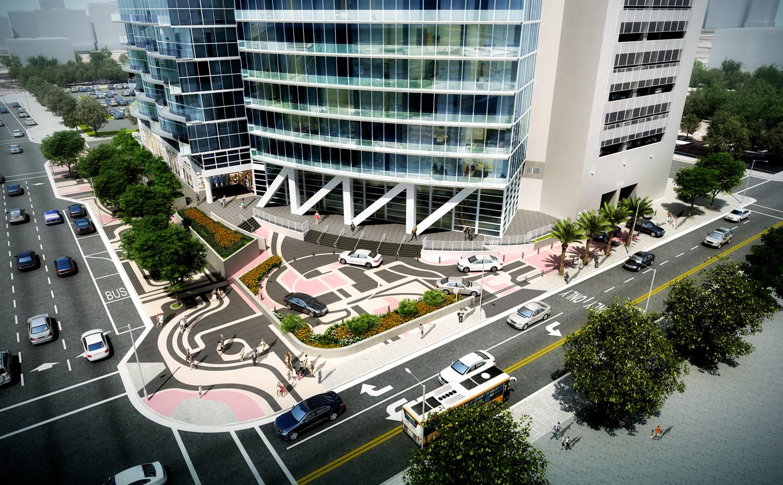 Marina Blue valet area renovation