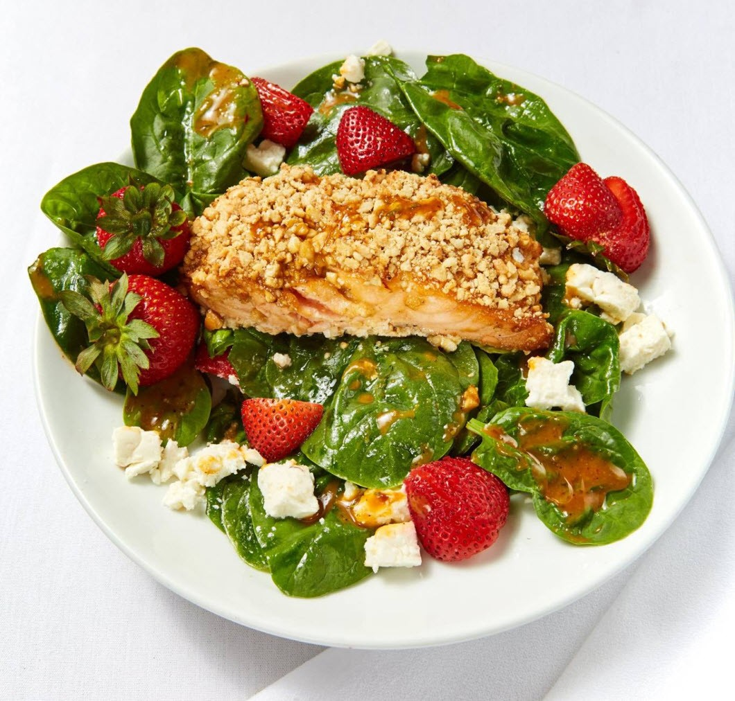 Cashew encrusted salad at Perricone's Marketplace