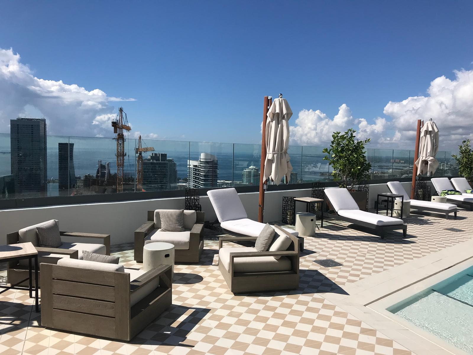 views south from SLS Lux rooftop deck