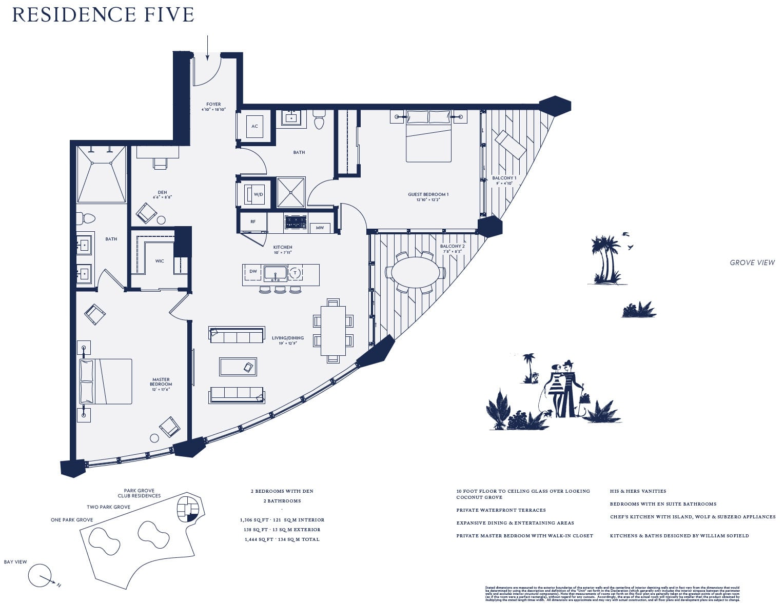 Club Residences 05 line floor plan