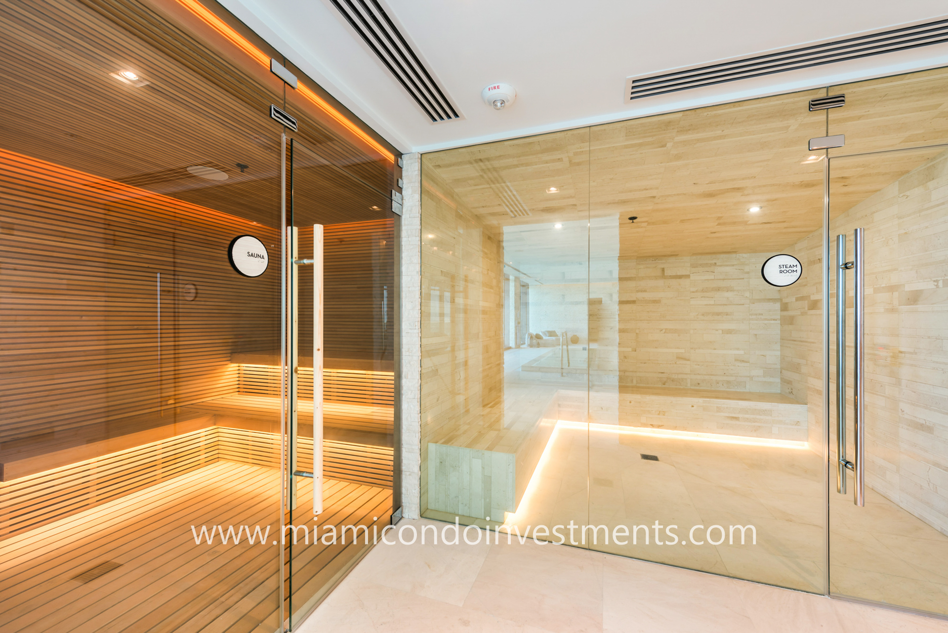 sauna and steam room at One Paraiso