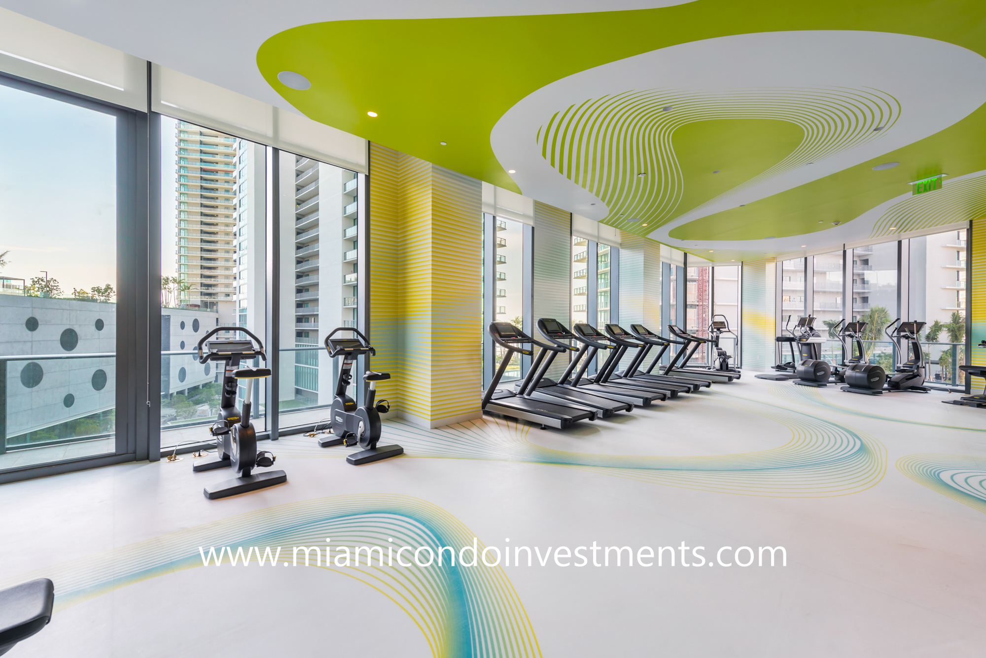 fitness center at Paraiso Bayviews
