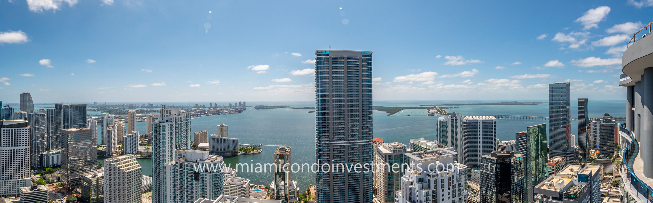 panoramic views from Upper Penthouse at Brickell Flatiron