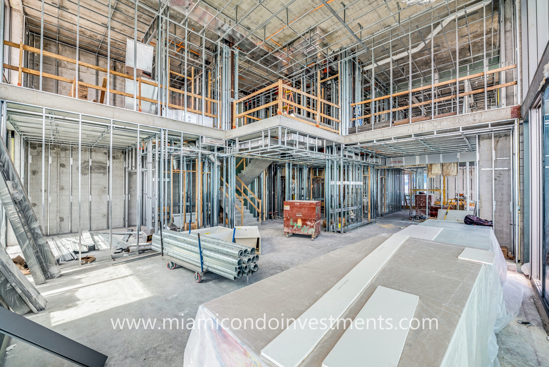 raw upper penthouse at Brickell Flatiron