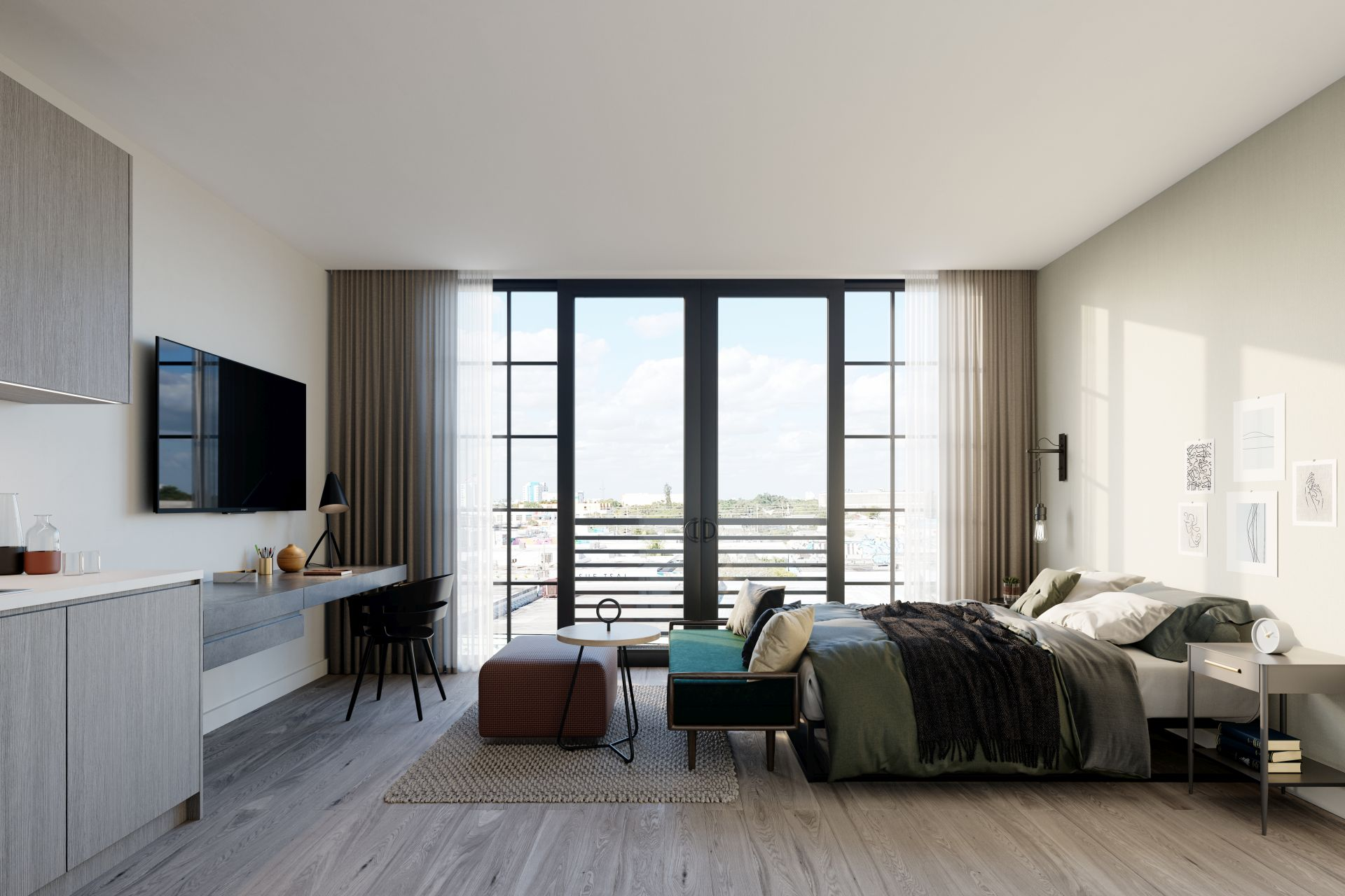 Wynwood 25 studio model unit