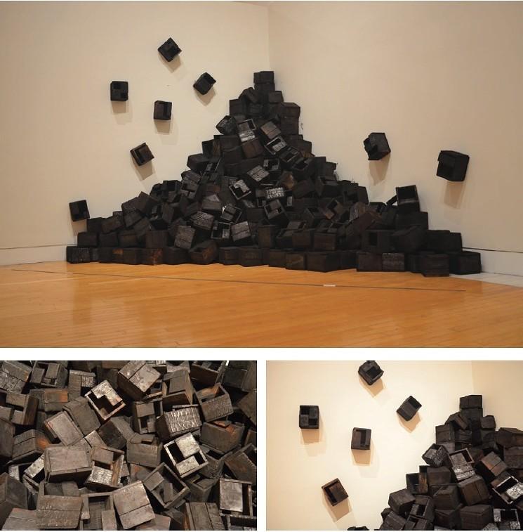 Ascending City (2010) utiliza materiales contundentes, expresivos y toscos.