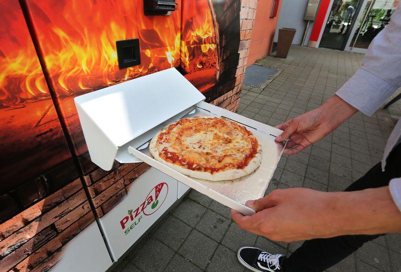 Pizza de la máquina expendedora