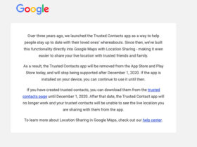 Google elimina la aplicación que le permite controlar a sus seres queridos durante una emergencia