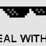 Las gafas 'deal with it' se venden como NFT
